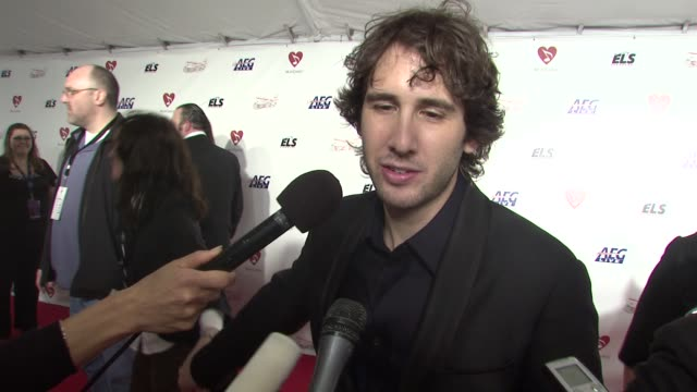 josh groban on the music of neil diamond, the event at the musicaresr 2009 person of the year tribute at los angeles ca. - tribute event stock videos & royalty-free footage