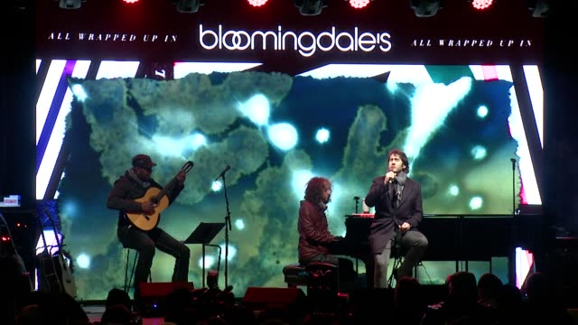 performance josh groban performs christmas song at bloomingdale's 2013 holiday window unveiling with live performance by josh groban at the... - bloomingdales stock videos & royalty-free footage