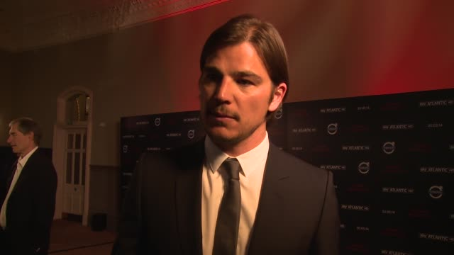 interview josh hartnett on his career billboards and cannes at penny dreadful' sky launch at st pancras renaissance hotel on may 12 2014 in london... - ridge stock videos & royalty-free footage