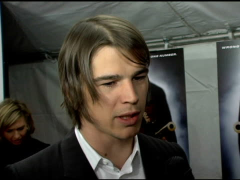 Josh Hartnett on why people would see the film working with the cast and favorite experience on the set of the movie at the 'Lucky Number Slevin' New...