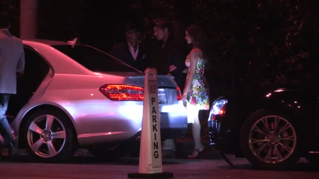 josh henderson & date exit from audi celebrates emmys week 2014 in los angeles in celebrity sightings in los angeles, - celebrity sightings stock videos & royalty-free footage