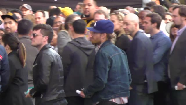 Josh Hutcherson arriving to see Kobe Bryant's final game at Staples Center in Los Angeles Celebrity Sightings on April 13 2016 in Los Angeles...