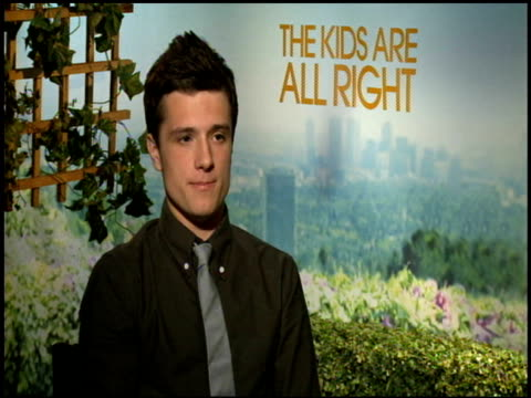 josh hutcherson on the biggest challenge working on the film at the 'the kids are all right' junket at los angeles ca - biggest stock videos & royalty-free footage