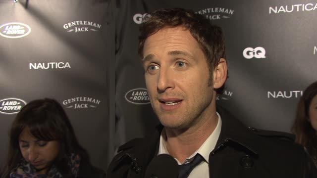 josh lucas on presenting to eightyearold wyatt workman award recipient tonight for his conservationist efforts on his work with oceana on coming from... - josh charles stock videos and b-roll footage