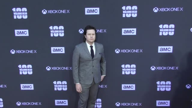 Josh McDermitt at AMC's The Walking Dead 100th Episode Season 8 Special Premiere Screening at The Greek Theatre on October 22 2017 in Los Angeles...