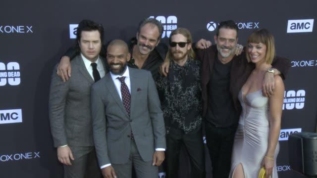 Josh McDermitt Khary Payton Steven Ogg Austin Amelio Jeffrey Dean Morgan Pollyanna McIntosh at the AMC's 'The Walking Dead' 100th Episode Season 8...