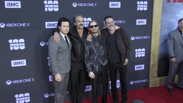 Josh McDermitt Steven Ogg Austin Amelio Jeffrey Dean Morgan at AMC's The Walking Dead 100th Episode Season 8 Special Premiere Screening at The Greek...