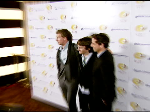 josh meyers akiva schaffer and seth meyers at the koi las vegas grand opening at planet hollywood in las vegas nevada on november 9 2007 - seth meyers stock videos and b-roll footage