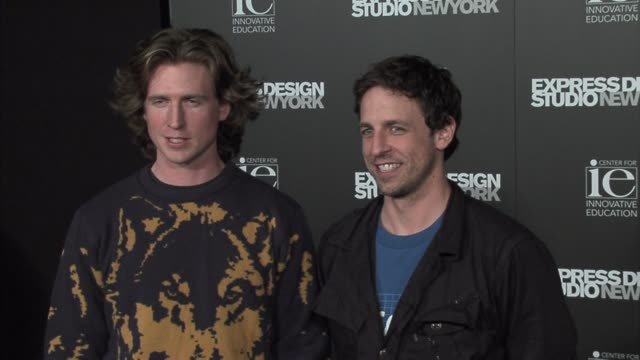 josh meyers and seth meyers at the a night of music and fashion with express at smashbox studios in los angeles california on february 16 2006 - seth meyers stock videos and b-roll footage