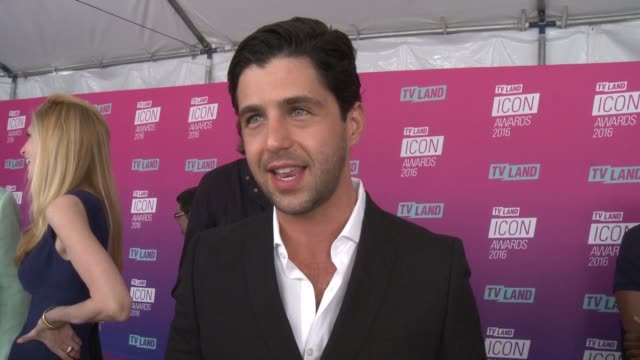 interview josh peck on why he wanted to help present john stamos with this honor what makes john timeless at tv land icon awards arrivals in los... - tv land awards stock videos and b-roll footage