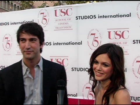 Josh Schwartz and Rachel Bilson at the USC School of Film and Television's 75th Anniversary Gala Interviews at Hobart Auditorium in Los Angeles...
