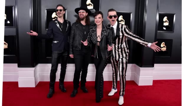 josh smith joe hottinger lzzy hale and arejay hale of halestorm attends the 61st annual grammy awards at staples center on february 10 2019 in los... - grammy awards stock videos & royalty-free footage