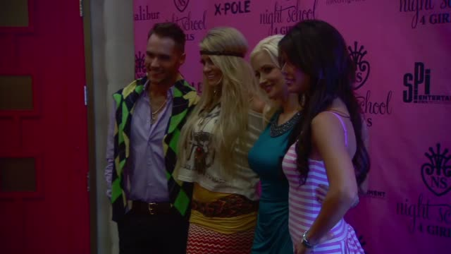 josh strickland, angel porrino, holly madison, laura croft at the night school 4 girls celebrates grand opening - croft stock videos & royalty-free footage