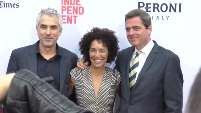 Josh Welsh Alfonso Cuaron Stephanie Allain at the 2016 Los Angeles Film Festival Desierto Premiere at ArcLight Theatre in Culver City in Celebrity...