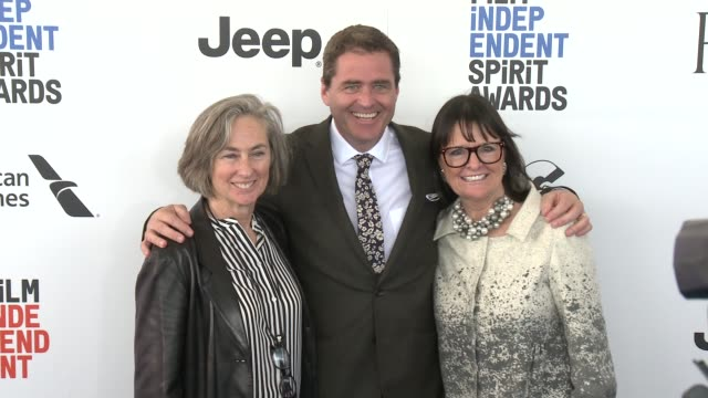 Josh Welsh Bonnie Tiburzi Caputo and Mary Sweeney at the 2017 Film Independent Spirit Awards Arrivals on February 25 2017 in Santa Monica California