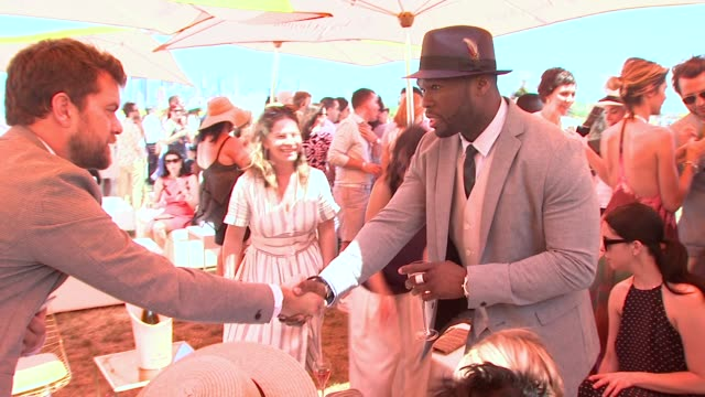 joshua jackson 50 cent at veuve clicquot polo classic 2015 at liberty state park on may 30 2015 in jersey city new jersey - jackson new jersey stock videos and b-roll footage