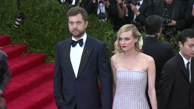 joshua jackson and diane kruger at china through the looking glass costume institute benefit gala arrivals at metropolitan museum of art on may 04... - gala stock videos & royalty-free footage