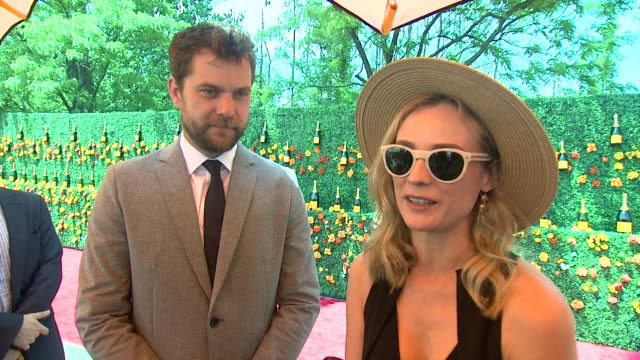 interview joshua jackson diane kruger on being at the match at veuve clicquot polo classic 2015 at liberty state park on may 30 2015 in jersey city... - jackson new jersey stock videos and b-roll footage