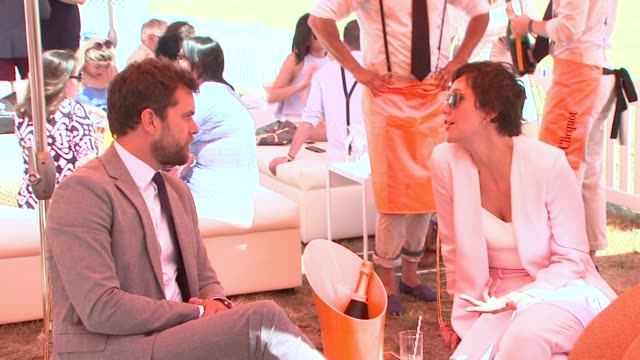 joshua jackson maggie gyllenhaal at veuve clicquot polo classic 2015 at liberty state park on may 30 2015 in jersey city new jersey - jackson new jersey stock videos and b-roll footage