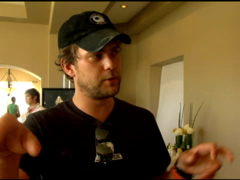 joshua jackson on how much he enjoys the coachella festival, the free gifts he got at the dkny jeans/motorola party and also on his experiences... - motorola stock videos & royalty-free footage
