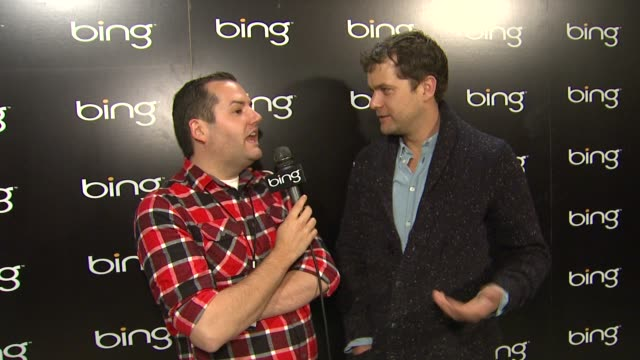 joshua jackson on sports betting and his film at sundance at bing bar sundance 2012 day 3 in park city utah on 1/21/2012 - park city utah stock videos and b-roll footage