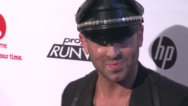 joshua mckinley at project runway 10th anniversary party at highline on july 17 2012 in new york new york - project runway stock videos and b-roll footage