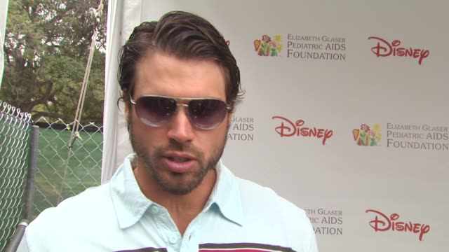 joshua morrow on his favorite part of the day at the 21st annual 'a time for heroes' celebrity picnic benefit at los angeles ca - a time for heroes stock videos & royalty-free footage