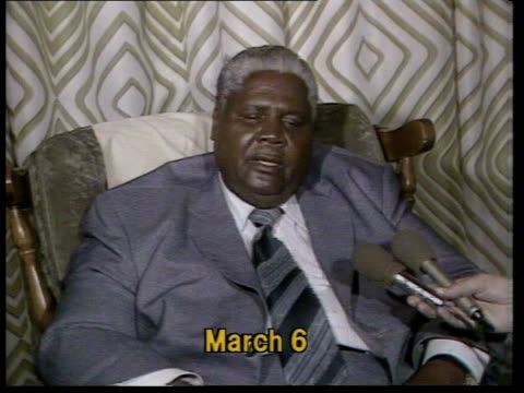 joshua nkomo flees to botswana itn 