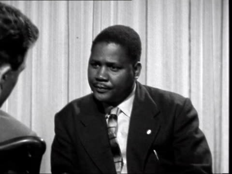 london int joshua nkomo interview sof - joshua nkomo stock videos & royalty-free footage