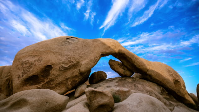 Joshua Tree Arch Rock Sunset Timelapse