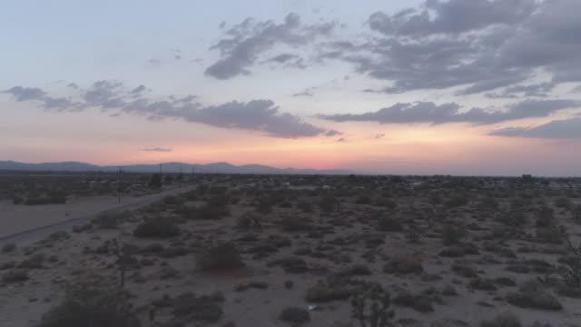 vídeos y material grabado en eventos de stock de desierto de joshua tree antena - perspectiva desde un helicóptero
