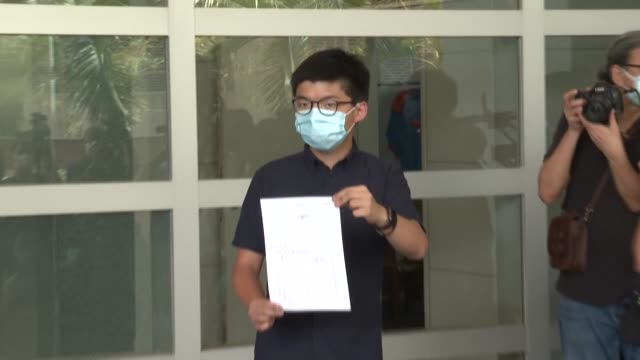 joshua wong is among a dozen hong kong democracy activists who have been disqualified from standing in september's legislative election - dozen stock videos & royalty-free footage