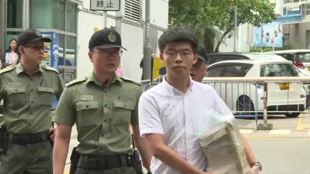 HKG: Hong Kong protest leader Joshua Wong released from prison