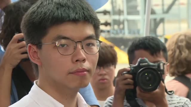 HKG: Hong Kong protest leader Joshua Wong released from prison (2)