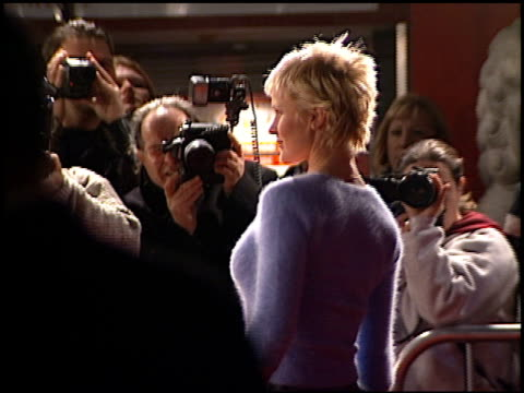 josie davis at the 'family man' premiere at grauman's chinese theatre in hollywood california on december 12 2000 - the family man film title stock videos & royalty-free footage