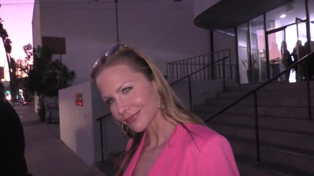 josie davis reveals her old favorite tv show to watch outside harmony gold theater in hollywood in celebrity sightings in los angeles, - harmony gold preview theatre stock videos & royalty-free footage