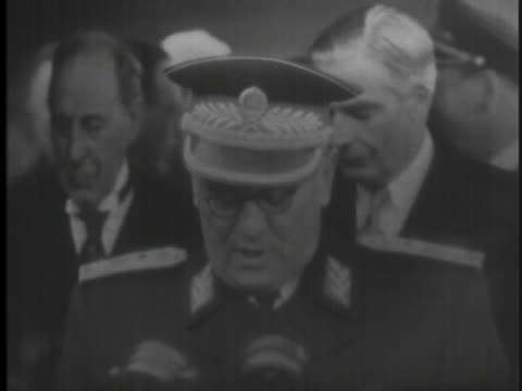 josip broz tito, leader of yugoslavia, speaks about peace and security when he visits england in 1953 - (war or terrorism or election or government or illness or news event or speech or politics or politician or conflict or military or extreme weather or business or economy) and not usa stock videos & royalty-free footage