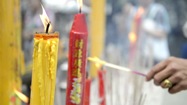 Joss stick and candle