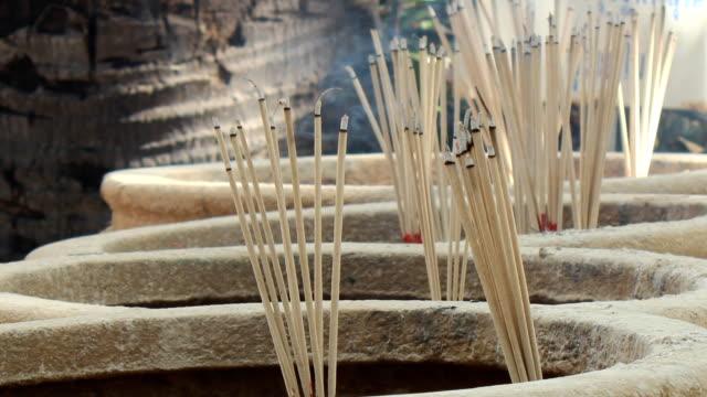 joss stick - sandalwood stock videos & royalty-free footage