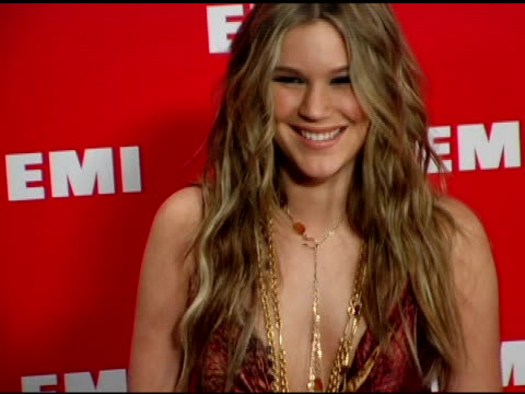 joss stone at the emi post-grammy awards bash at the beverly hilton in beverly hills, california on february 13, 2005. - emi grammy party stock videos & royalty-free footage