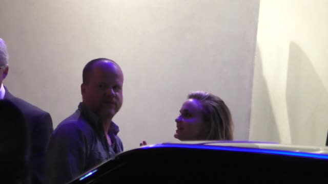 Joss Whedon Caroline Williams arriving to Hollywood Reporter's 4th Annual Nominees Night at Spago's in Beverly Hills in Celebrity Sightings in Los...