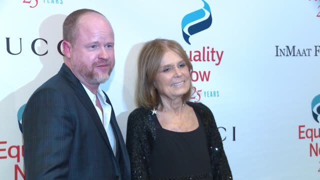 Joss Whedon Gloria Steinem at 2017 Equality Now Gala at Gotham Hall on October 30 2017 in New York City