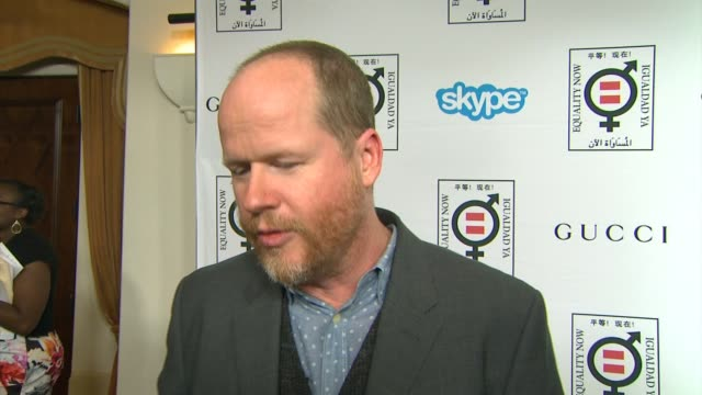 interview joss whedon on why it's important to support equality now his advice on how to make equality a reality and thoughts on the honorees at... - equality now stock videos and b-roll footage