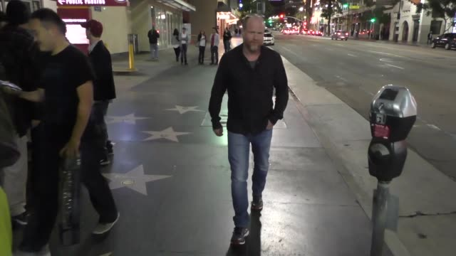 Joss Whedon walking down Hollywood Blvd in Hollywood in Celebrity Sightings in Los Angeles