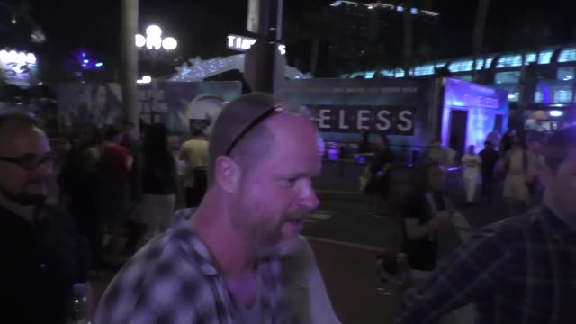 Joss Whedon with fans at San Diego ComicCon International at Celebrity Sightings at ComicCon on July 22 2016 in San Diego California