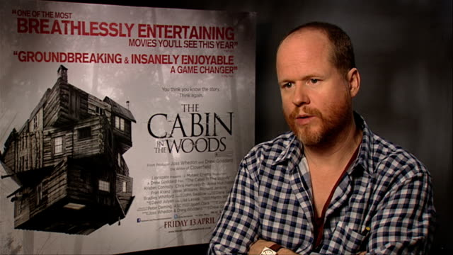 Joss Whendon on on producing instead of directing at The Cabin In The Woods Interviews at at Soho Hotel on March 23 2012 in London England