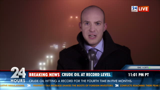 HD: Journalist Reporting Live On Location