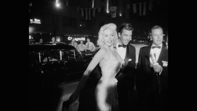 journalist taking interview of actress jayne mansfield and actor mickey hargitay los angeles california united states of america - young men stock videos & royalty-free footage