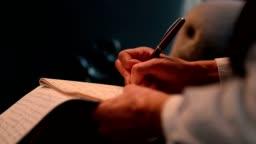 journalist taking notes