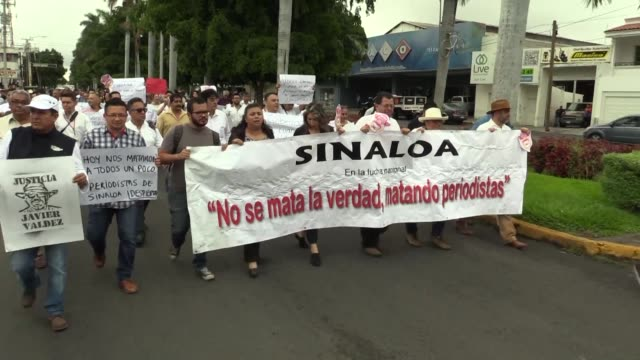 journalists and citizens march in culiacan to demand justice following the murder of the fifth and most high profile journalist killed this year in... - journalist stock videos & royalty-free footage